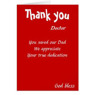 du sparade vår pappadoktor hälsningskort