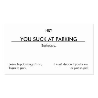 Du suger på att parkera. (ren anpassadeversion) visitkort