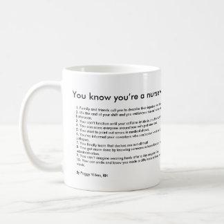 Du vet att du är en sjuksköterska när… kaffemugg