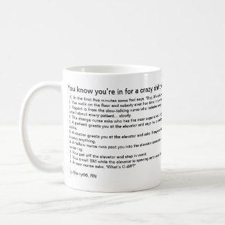 Du vet att du är in för en galen förskjutning när… kaffemugg