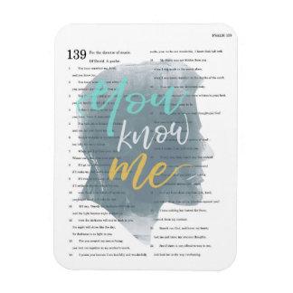 Du vet mig, Psalm 139, den Male silhouetten Magnet