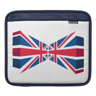 Dubbel facklig jack, brittisk flagga i 3D iPad Sleeve