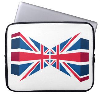 Dubbel facklig jack, brittisk flagga i 3D Laptop Fodral