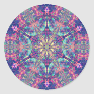 Dubbel Hexagram av Panspermia klistermärkear Runt Klistermärke