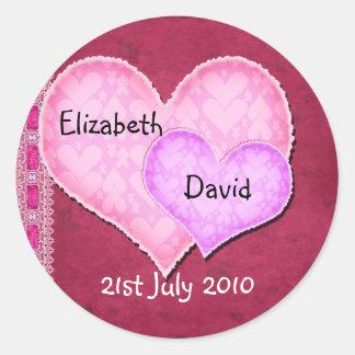 Dubbel hjärta runt klistermärke