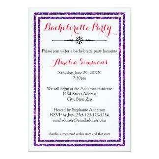 Dubbel lilaklippning - Bachelorette inbjudan