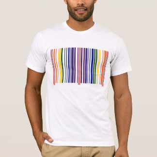 Dubbel regnbågeBarcode T Shirt