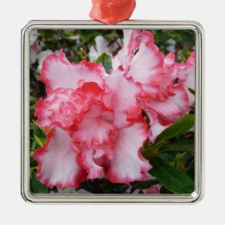 Dubbel röd och för vitAzaleasvår blommigt Julgransprydnad Metall