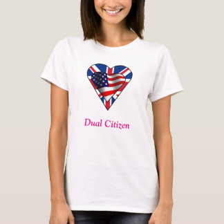 Dubbelmedborgare UK-US T Shirts