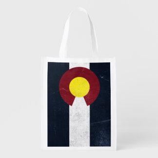 (Dubbelsidig) Colorado mörk Grungeflagga, Återanvändbar Påse