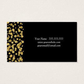 Dubbelsidig guld- konfettisvartvisitkort visitkort