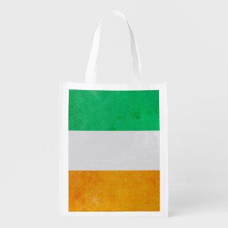 (Dubbelsidig) irländsk Tricolour flagga för Irland Återanvändbar Påse