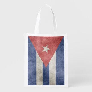 Dubbelsidig KubaGrungeflagga Återanvändbar Påse