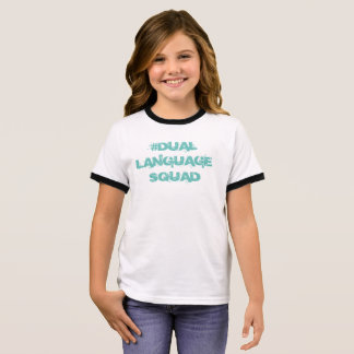 Dubbelspråksquad, flickatvåspråkig personskjorta t-shirt
