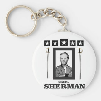 dubbelt blad Sherman cw Rund Nyckelring