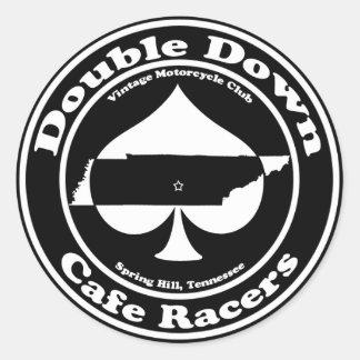 Dubbla besegrar CafeRacersklistermärken Runt Klistermärke
