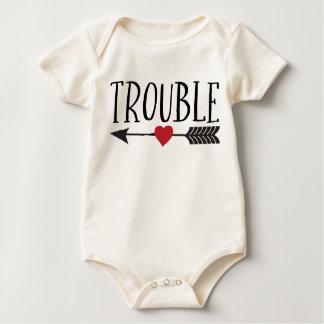 Dubbla besvärar body för baby