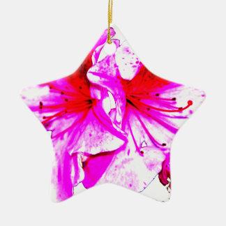 Dubbla blom för rosastänkAzalea Julgransprydnad Keramik