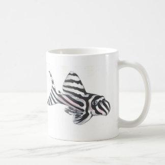 Dubbla för den sebraPleco L46 muggen avbildar Kaffe Koppar