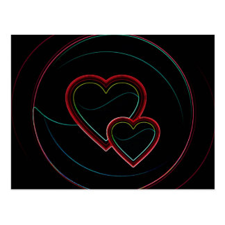 Dubbla hjärtor i svart