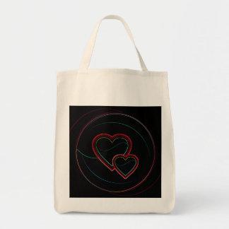 Dubbla hjärtor i svart kassar