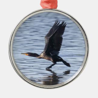 Dubbla-krönad Cormorant Julgransprydnad Metall