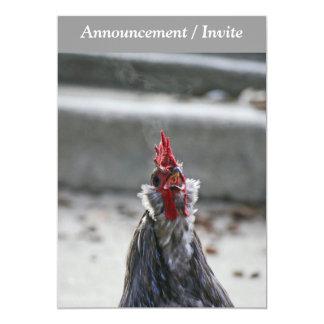 Dubbla sid Invitaion, tupp 12,7 X 17,8 Cm Inbjudningskort