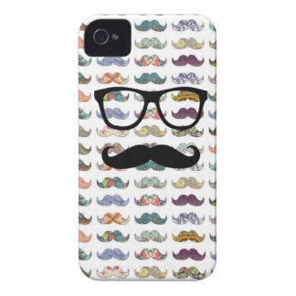 dubbla sid mustaschen Case-Mate iPhone 4 skal