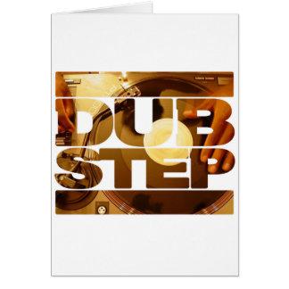 Duben för musik för DUBSTEP-vinyldubplates kliver  Hälsnings Kort