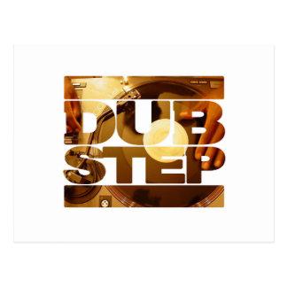 Duben för musik för DUBSTEP-vinyldubplates kliver Vykort