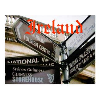 Dublin Irland Eire siteseeing vykort
