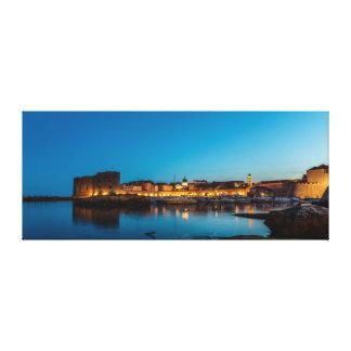 Dubrovnik efter mörk canvastryck