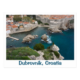 Dubrovnik från över vykort