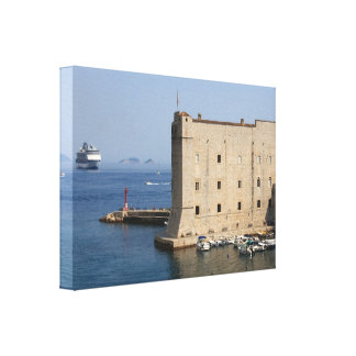 Dubrovnik hamn canvastryck