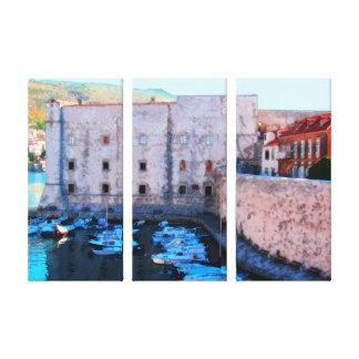 Dubrovnik - Kroatien - gammal port 2 Canvastryck
