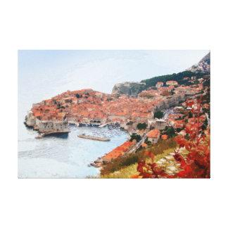 Dubrovnik - Kroatien - panorama 4 Canvastryck