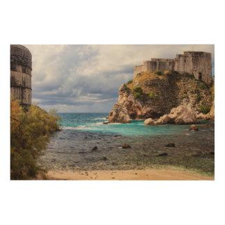 Dubrovnik kusten trätavla