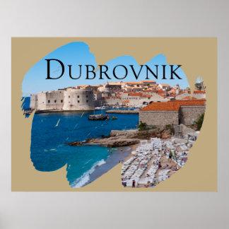 Dubrovnik med en beskåda poster