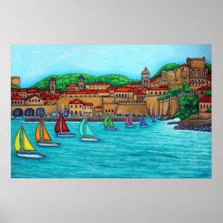 Dubrovnik Regattatryck av Lisa Lorenz Poster