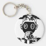 Dubstep gasmask nyckelringar