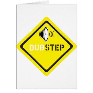 Dubstep ljuddesign hälsningskort