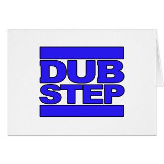 DUBSTEP-logotypblått Hälsnings Kort