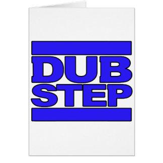 DUBSTEP-logotypblått Hälsningskort