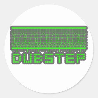 DUBSTEP-musik Runt Klistermärke