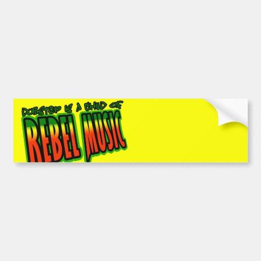 Dubstep rebellisk musik bildekal