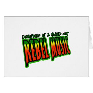 Dubstep rebellisk musik hälsningskort