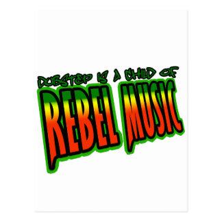 Dubstep rebellisk musik vykort