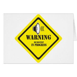 Dubstep varning hälsnings kort