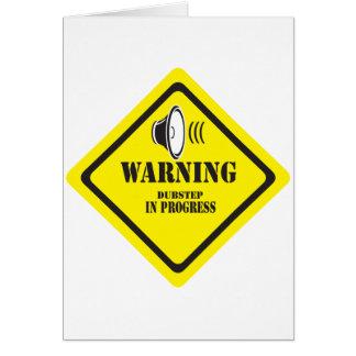 Dubstep varning hälsningskort