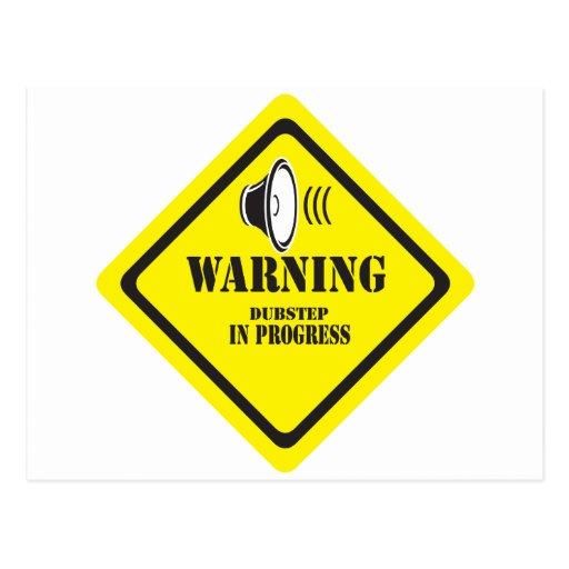 Dubstep varning vykort